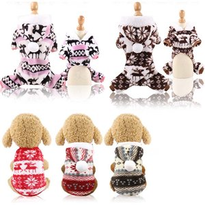 High quality Dog clothes designer dog clothes Christmas pet supplies cat cotton accessories funny autumn and winter clothes elderly elk snow