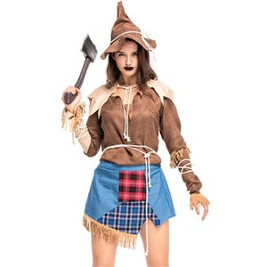 new high quality The Wizard of Oz Scarecrow costume Day of the Dead Sexy Adult Witch Cosplay dress Halloween Costumes for Women
