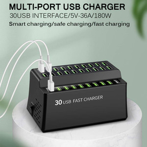 180W Multi USB Charger 30 Port Usb Fast Charger For Iphone X 8 11 12 Quick Charge Station Carregador Portatil For Samsung S10