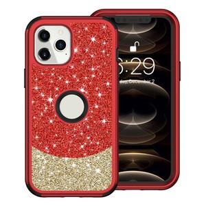 Bling Blitter Case Case для iPhone 12 11 Pro Max Hybrid Armor Case Case Cover для iPhone XS MAX XR 8PLUS Shell Short