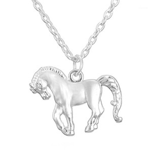 Teamer New Fashion Animal Jewelry Lovely Horse Pendant Necklace for Cowgirl Teen Girls Present Adjustable Link Chain for Kids1