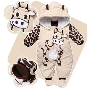 Winter Baby Rompers Boy Girl Coat Parkas Suit Children Clothing Romper Newborn Kids Clothes Layette Down Jumpsuit Set 201017