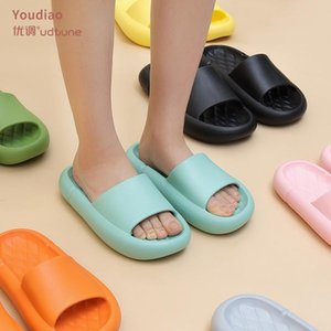 YouDiao EVA Platform Platform Slippers Donne Soft Indoor Home Slustoni per le donne mute sandali antiscivolo Uomo Summer Cacca Sensazione di scarpe