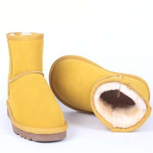 Classic Australia Women Snow 100% Genuine Cowhide Leather Ankle Warm Winter Woman Boots shoes Big size 35-44 201021