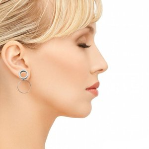 1 par de acero inoxidable de Boho del oído calibre macho de la manera del pendiente del oído 6-16mm medidores cuelgan el túnel de la carne de una silla Expander Plug Strecher