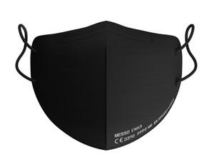 Messo neue schwarze maske 5 schicht kN95 ffp2 feder mask zertifikat weich nicht gewebt fthat hält sogar die beste technologie und qualität p