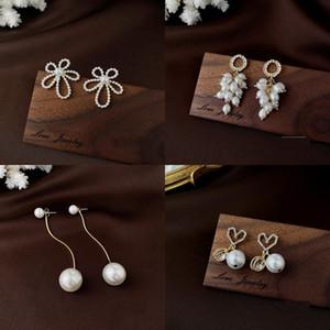 Baroque Pearl Temperamentl Stud Earrings Bow Dreamlike Long Tassels Earring Jewelry Women Retro Grace Generous Female Ear Studs 5as H2B