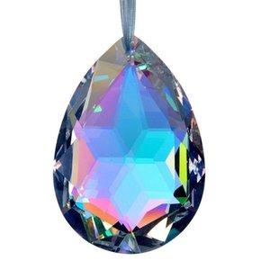38mm Clear Crystal Drops Chandelier Lâmpada Pingente Prismas Prismas Chrismas Decoração Pendurado SunCatcher 38mm Clear H Bbyhqq