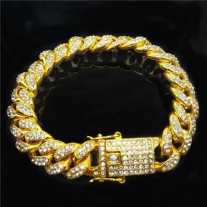 Hip Hop Style Jewelry Top Quality Bracelets Design Bracelet 18K Full Diamond Bracelet Men Cuban Chain Fashion Accessories Supply