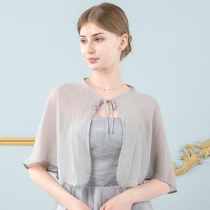 cardigan Korean-style evening shawl bridal chiffon NCW5H large size sleeveless sunproof mid-length air conditioner Evening wedding dres