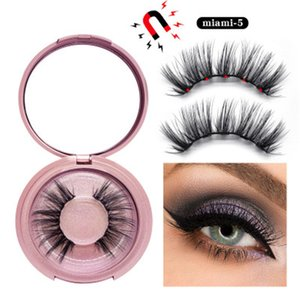 2021 Newest HOT 3D Mink Magnetic Eyelash False Eyelash Extension Waterproof Mink Lashes Makeup Eyelashes Magnetic Liquid Eyeliner