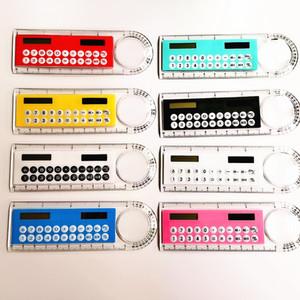 Mini Portable Solar Energy Calculator Creative Multifunction Ruler Students Gift Free Shipping 3 2 0