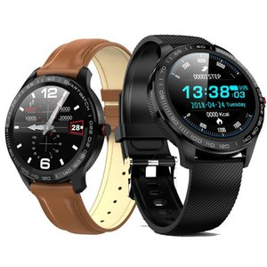 L9 ECG Smart Watch Men Full Round Multi-Touchable Smartwatch IP68 Sport Watches for Men Bluetooth Reminder  Music