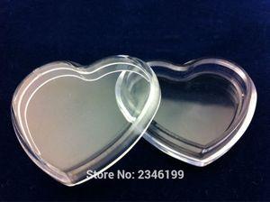 5ML 100шт / много Heart Shape Blush CANTAINER, Clear Пустой Eyeshadow Powder Box, DIY Портативный Малый косметический бальзам для губ Case