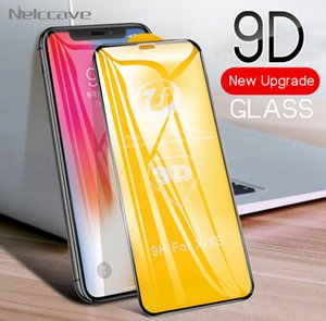 50pcs lot Tempered Glass Screen Protector 9d For iPhone 11 Pro XS Max x 8 plus 7 6 6S e 5 5S Complete Glue Protective Cover Ready Stock