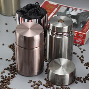 Wyzty 800ml 1000ml Lebensmittel Thermos Silber grün blau Rot Weiß Thermal Lunchbox Lebensmittelbehälter Thermo Pot Box LJ201218