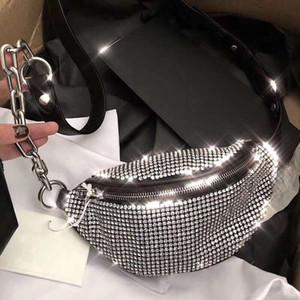 Bolsas de diseño de diamantes Wasit Leg de cuero Mujeres Bolsas de cintura Nuevas Hombres Casual Textura Bolsa de pecho Cadena de hombro Moda Rhombus Messenger Bag