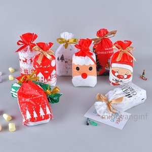 50 Pcs Christmas candy bag Christmas treat bags Drawstring Gift Bags Merry Christmas Treat Bags for Birthday Party MY-inf0441