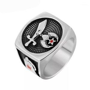Кластерные кольца падение 316L из нержавеющей стали Masonic Freemason Spritce Shriner для мужчин женщин антиквариаты MEN1