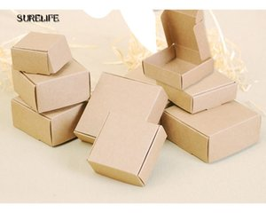100pcs Kraft Black White Paperboard Party Box Craft Gift Packing Boxes Candy box Cosmetic Handmade Soap Package