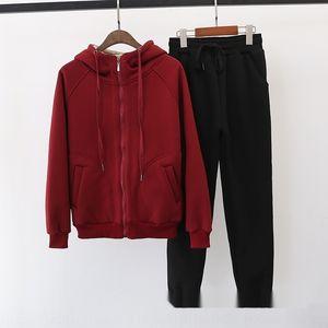fkoh0 peluche ispessita woolCashmere di lana invernale sportivo donne di autunno e maglione woolnew cappotto coreano del cappotto con cappuccio sciolto e due pezzi di cassa