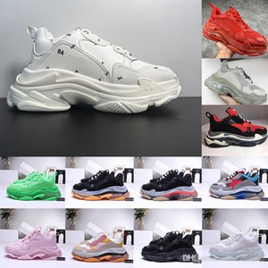 2020 Art und Weise beiläufige Schuhe Helle Citron Triple-S 17FW Sport-Turnschuhe Tripler Schwarz-Rosa-Kristall Bottom Paris triple s-Plattform-Schuhe