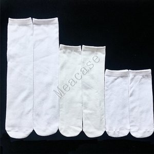 Sublimation White Socks Thermal Transfer Plain White Double-sided Printed Stockings 15cm 20cm 24cm 30cm 40cm Unisex Casual Socks F102305