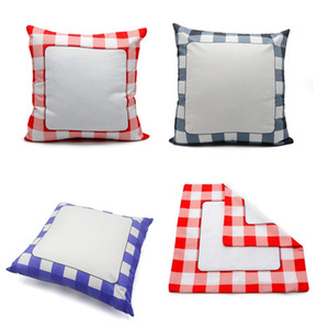 Blank Sublimation Plaid Pillowcase Thermal Transfer Printing Sudoku Pillow Case Cushion Cover Throw Pillow Sofa Decorations SALE F102004