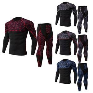 Koşu Setleri Hızlı Kuru erkek Termal İç Çamaşırı Sıkıştırma Spor Takım Elbise Basketbol Tayt Giyim Gym Fitness Jogging Sportswe