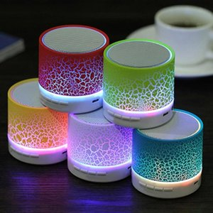 A9 Bluetooth Speaker Mini Wireless Loudspeaker Crack LED Colorful Lights Flashing TF USB Subwoofer mp3 Stereo Audio Music Player