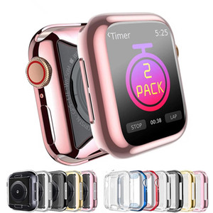 Case cover For Apple Watch case 44mm 40mm 42mm 38mm Screen protector cover Accessories for iwatch series 6 SE 5 4 3 44 mm 38 mm