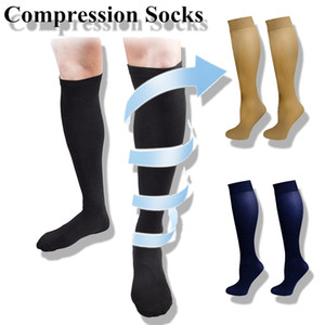 3 Pairs Hot Unisex Compression Stockings Pressure Varicose Vein Stocking Knee High Leg Support Stretch Pressure Circulation 201012