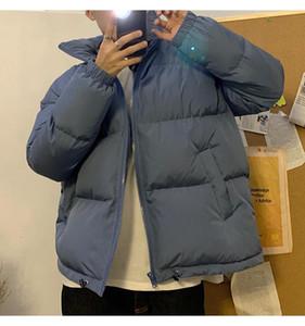 Мужчины красочные зимние Parkas Partwoodwear хип-хоп карманы толстые куртки мужчины мода корейской слойной куртки