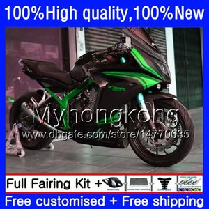 Kit para Honda CBR 650 F CBR650F 2011 2012 2013 2014 2015 53HM.36 CBR 650F CBR650 Verde preto F CBR650 CBR650F 11 12 13 14 15 16 carenagens