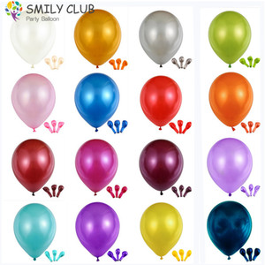 100% Latex Baloon 100pcs lot White Pearl Ballon Decorations Wedding Balloons Birthday Party Supplies Holiday Inflatable Toy 1027