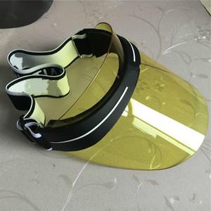 2021 Venda quente Visor Designer Atualizado Marca Espessada Sol Chapéu Verão Ao Ar Livre UV Óculos de Sol Chapéu Ajustável tamanho 56-62cm