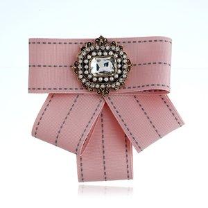 Sunnice Wholesale Tissu vintage Broche à arc faite main pour femme Cravate de cou importé Matériau de mariage Accessoires de fête de la Saint-Valentin