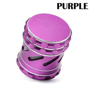 Side Window Herb Grinder 4 Parts Alloy Metal Hollow Out Grinders Crusher For Smoke Accessory 2 Colors 25 5mt E1
