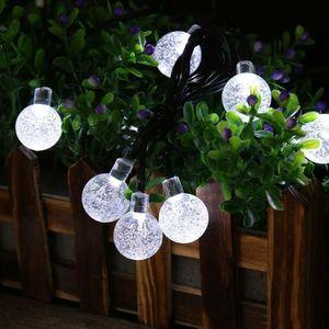 30 LED Crystal Ball Water Drop Солнечные Globe Fairy 8 Рабочий эффект для сада Открытый рождественские украшения Праздничные огни OWB2387