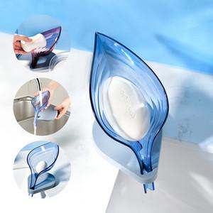 Leaf Shape Soap Dish Box Bathroom Soap Holder Storage Rack Sponge Holder Case Bathroom Supplies Gadgets