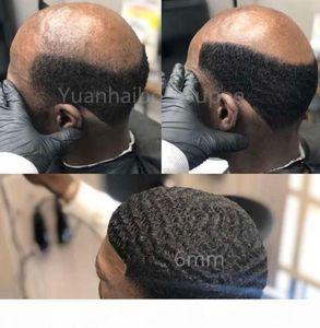 Hombres Peluca para el cabello 4mm 6mm 8mm 10mm 12mm Onda de encaje completo Toupee Toupee Toupee Malasia Virgen Humano Reemplazo para los hombres Envío gratis