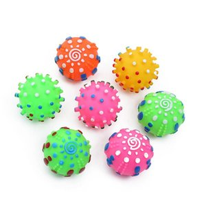 Sounding Spiky Biting Toy for Dogs Colorful Balls Flexible Chewing Toy Play and Having Fun with Doggie