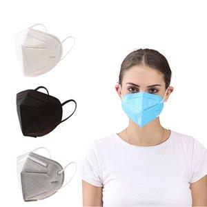 KN95 Maschera di fabbrica il 95% filtro Blue Black Mask Carboni respirazione respiratore 5 livello maschera progettista faccia