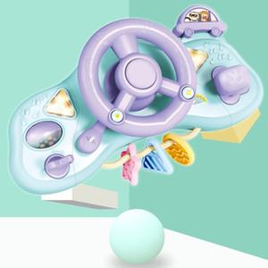 Volante bambino Simulazione elettrico multifunzionale Musica Leggera guida Steering Wheel Giochi per bambini giocattoli educativi LJ201105