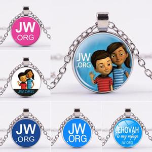 Gioielli Jw Org collana argento lettera Jw Org vetro Cabochon collana I pendenti Will e Sandy Drop Shipping