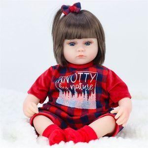 JULY'S SONG 42CM Baby Reborn Dolls Soft Vinyl Toys For Girls Adorable Reborn Baby Girl Realistic Newborn Birthday Present Doll T200712