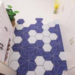 Carpet Mat Custom Irregular Shape Rug Nordic Minimalist Anti-slip PVC Silk Loop Door Mat Door washable Carpet Rug