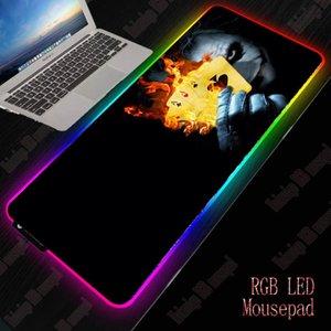 XGZ مهرج كبير USB السلكية RGB ماوس الوسادة عكس الضوء LED الإضاءة الألعاب ألعاب ماوس فولباد سطح المكتب الفئران حصيرة الكمبيوتر المحمول 201027