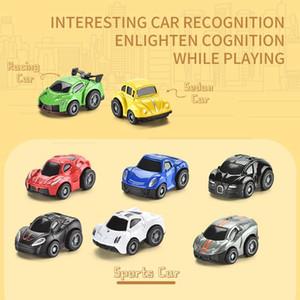 48PCS / Lot linda Tire Mini coche fundido a troquel de la aleación Volver vehículos del juguete de metal precioso colorido juega el coche de aleación de coche para niños y regalo WWW