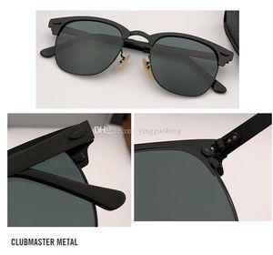 2021 Top Qualität Marke Club New Masster Sonnenbrille Herren Designer Spiegel Gläser Frauen Oculos de Sol Eyewear Zubehör 51mm UV400lens Gafas